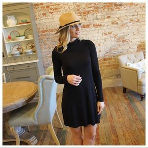 Black long sleeve tunic dress